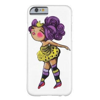チュチュの女の子のIphoneの紫色の髪の箱 Barely There iPhone 6 ケース