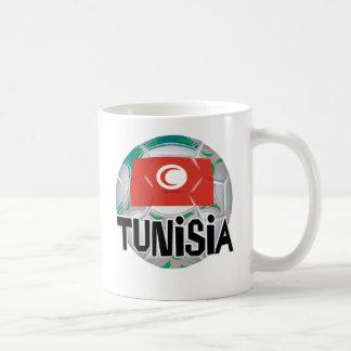 チュニジアのサッカーのFutbolのチーム コーヒーマグカップ