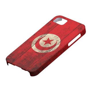 チュニジアの古い木の旗 iPhone SE/5/5s ケース