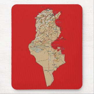 チュニジアの地図のマウスパッド マウスパッド
