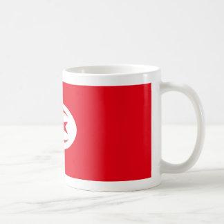 チュニジアの旗のコーヒー・マグ コーヒーマグカップ