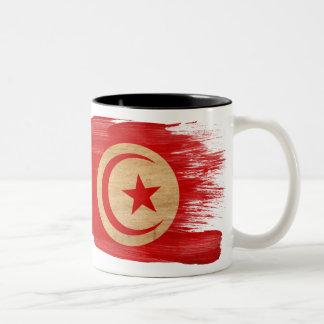 チュニジアの旗のマグ ツートーンマグカップ