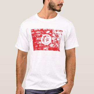 チュニジアの旗の世界 Tシャツ