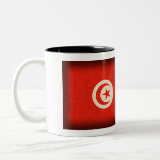 チュニジアの旗の動揺してなマグ ツートーンマグカップ
