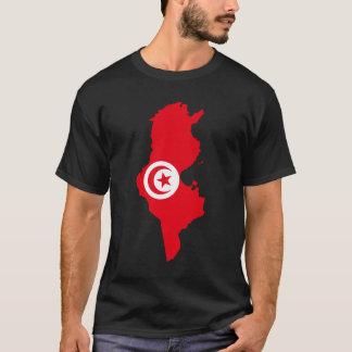 チュニジアの旗の地図 Tシャツ
