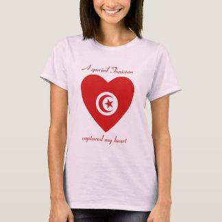 チュニジアの旗の恋人のTシャツ Tシャツ