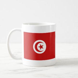 チュニジアの旗の~の地図のマグ コーヒーマグカップ