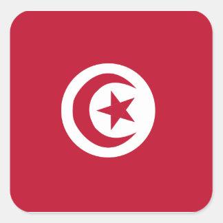 チュニジアの旗 スクエアシール