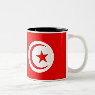 チュニジアの旗 ツートーンマグカップ