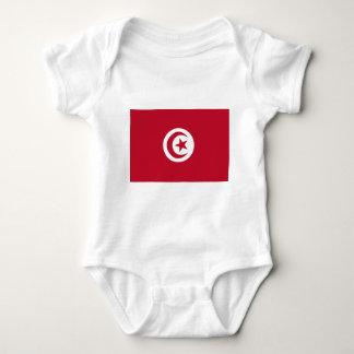 チュニジアの旗 ベビーボディスーツ
