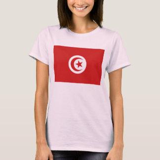 チュニジアの旗Xの地図のTシャツ Tシャツ