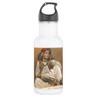 チュニジア1910年からの若い女性 ウォーターボトル