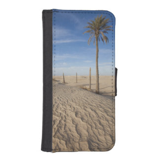 チュニジア、サハラ砂漠の砂漠、Douzの素晴らしい砂丘、夜明け iPhoneSE/5/5sウォレットケース