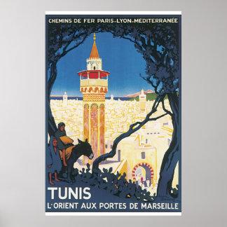 チュニスのヴィンテージ旅行ポスター ポスター