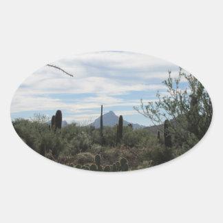 チューソンの砂漠のステッカー 楕円形シール