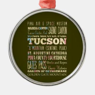チューソン、アリゾナの魅力及び有名な場所 メタルオーナメント