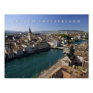 チューリッヒスイス連邦共和国の都市景観 ポストカード