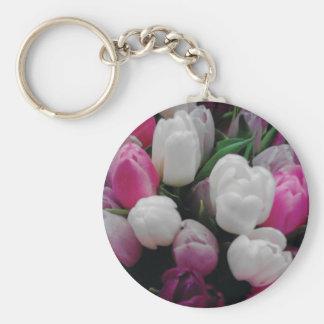 チューリップによっては花屋のためのカスタムな写真のkeychainが開花します キーホルダー