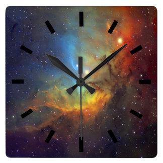 チューリップの星雲SH2-101 NASA スクエア壁時計