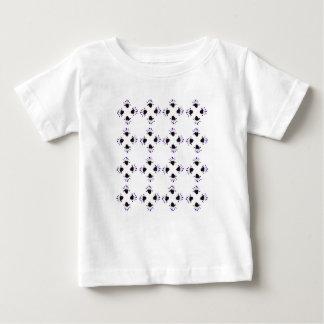 チューリップの白黒 ベビーTシャツ