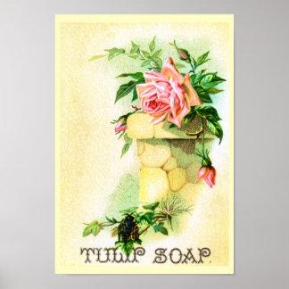 チューリップの石鹸広告 ポスター