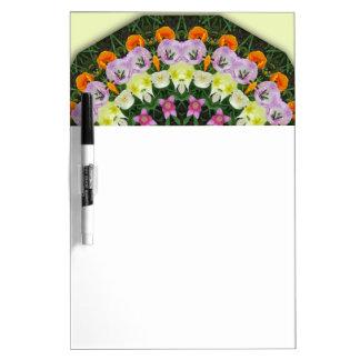 チューリップの花の曼荼羅、花の曼荼羅スタイル ホワイトボード