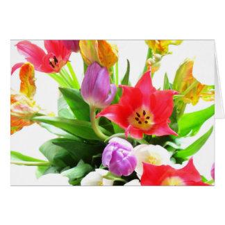 チューリップの花の花束 グリーティングカード