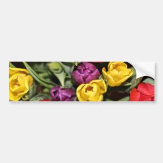 チューリップの花束の束 バンパーステッカー