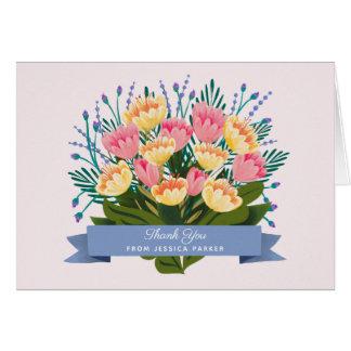 チューリップの花束はノート感謝していしています カード