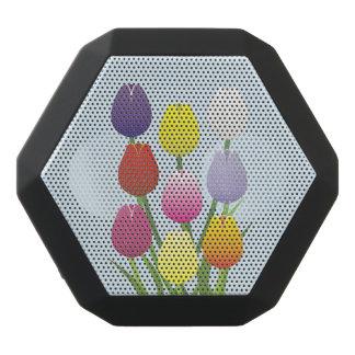 チューリップの花 ブラックBluetoothスピーカー