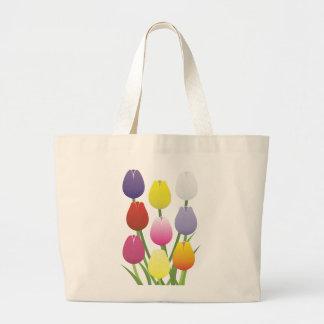 チューリップの花 ラージトートバッグ