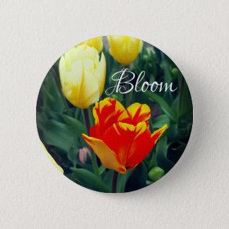 チューリップの開花 5.7CM 丸型バッジ