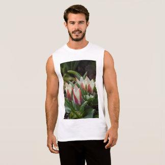 チューリップ筋肉ワイシャツ 袖なしシャツ