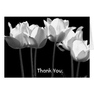 チューリップ、B&Wバルミツワーは感謝していしています(メッセージと) カード