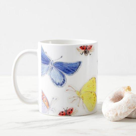チョウのマグカップ コーヒーマグカップ