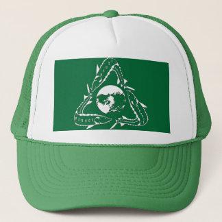 チョウザメの帽子-リサイクルの緑 キャップ