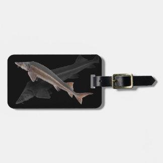 チョウザメの荷物のラベル-科学的な名前--に縁を付けますか、または出荷して下さい ラゲッジタグ