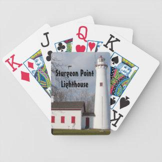 チョウザメポイント灯台 バイスクルトランプ