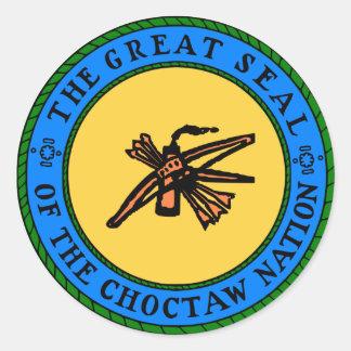 チョクトー族のシール ラウンドシール
