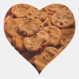 チョコチップクッキーのハートのステッカー ハートシール