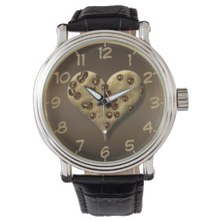 チョコチップクッキーのハートの腕時計 腕時計