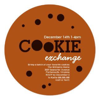 チョコチップクッキーの交換交換パーティ カード