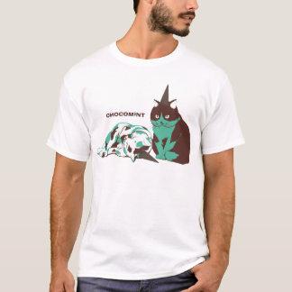 チョコミント_ねこ Tシャツ