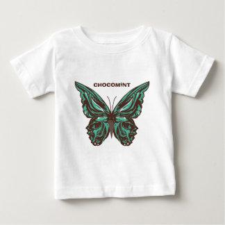 チョコミント 蝶 ベビーTシャツ