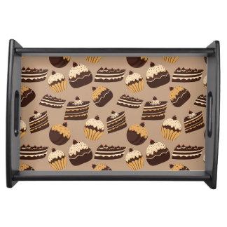 チョコレートおよびペストリーパターン3 トレー