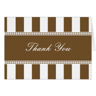 チョコレートおよび白いカフェのストライプはノート感謝していしています カード