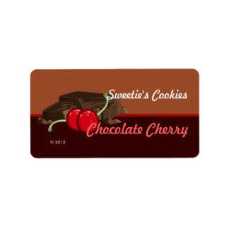 チョコレートさくらんぼのラベル ラベル
