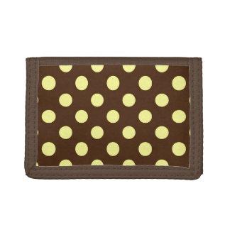 チョコレートで浅い黄色大きいレトロの点-