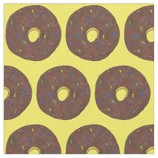 チョコレートによって曇らされるドーナツ虹は生地を振りかけます ファブリック