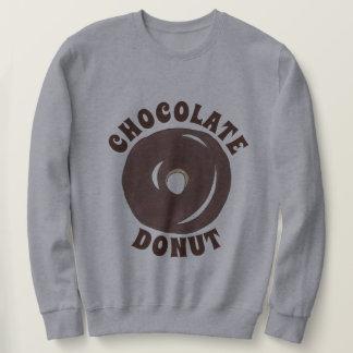 チョコレートによって艶をかけられるケーキドーナツドーナツ朝食 スウェットシャツ